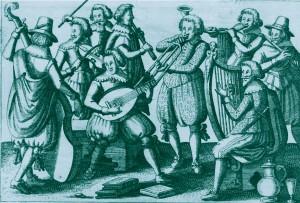 Anon. Neun Musikanten mit ihren Instrumenten. Herzog August Bibliothek, Wolfenbüttel._2